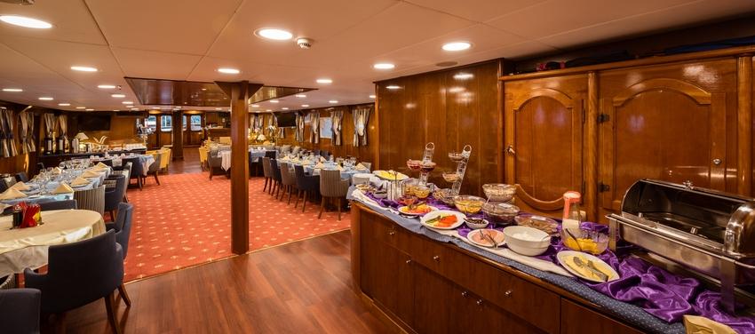 Main dining lounge area buffet deck cabin M/S Galileo