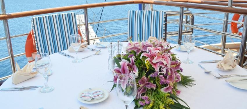 Callisto Mega Yacht Outdoor Dining
