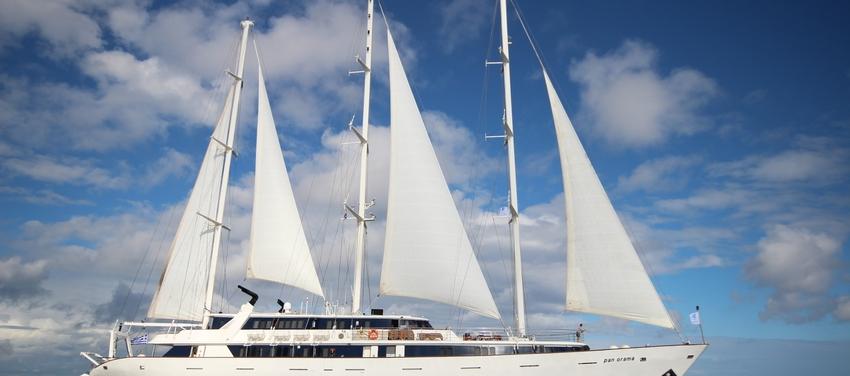 panorama sail boat