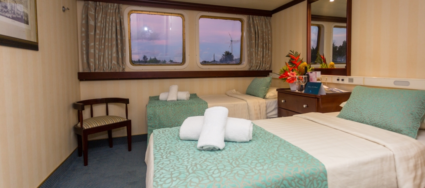Category A cabin double bedroom cruise ship M/Y Pegasus Seychelles