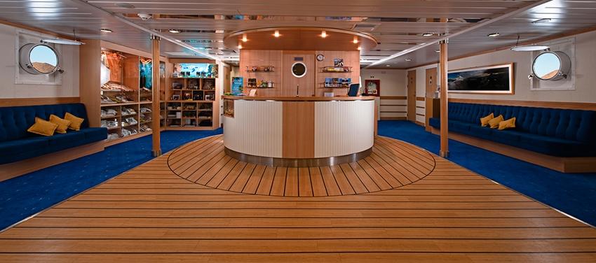 Social area hangout lounge relax La Pinta luxury yacht