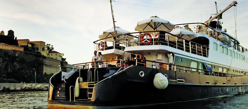 Stern of the Callisto Mega Yacht Cuba Cruise
