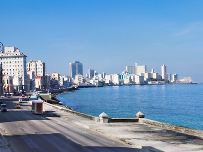 Havana Malecon seaside boulevard caribbean ocean travel Cuba