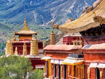 Ancient temples, Lhasa, Tibet