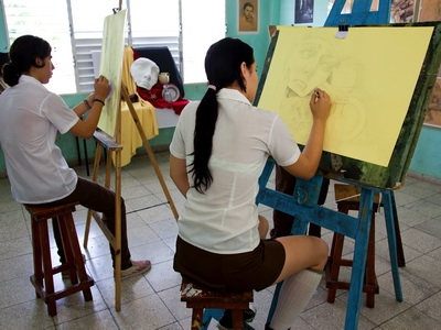 Art Students in Cuba