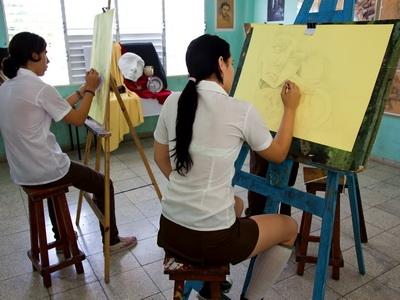 Art Students in Cuba