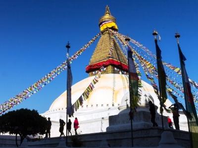 Boudha Stupa UNESCO World Heritage Site in Kathmandu, Nepal
