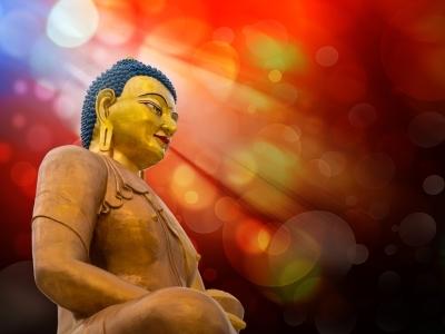 Buddha meditating, Tibet_300x400