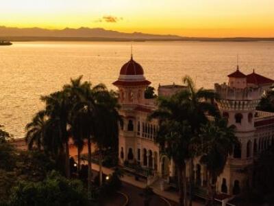 Cienfuegos, Cuba Valle Palace at Sunrise