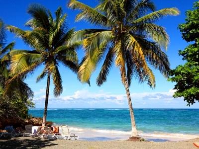 A beautiful Caribbean beach in Cuba
