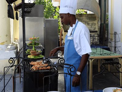 Cuban Chef Cooking