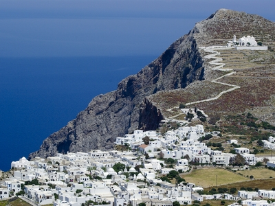 Folegandros Greece city town travel white buildings beautiful mountain cyclades