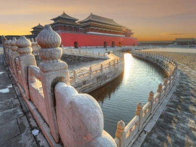 Forbidden City, Beijing, China, bridge and canal