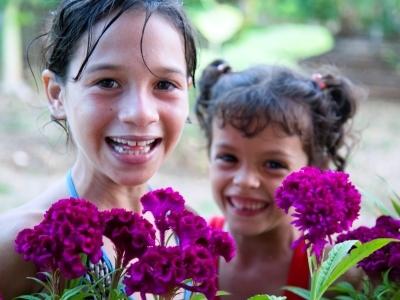 Cuban girls students lean youth organization