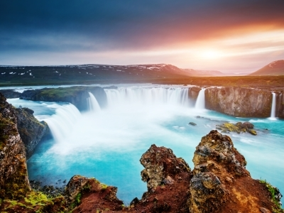 Godafoss Waterfall_Bardardalur valley_Skjalfandafljot river, Iceland.400x300