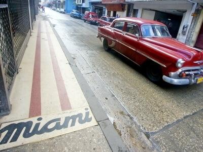Cuba car miami vintage travel
