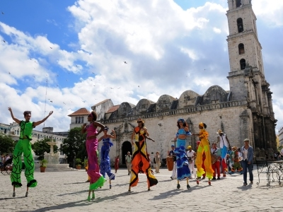Stilt Walkers Old Havana Cuba Color Bright fun