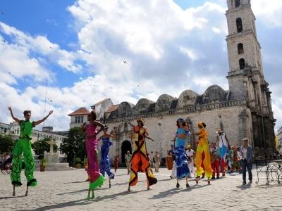 Stilt Walkers Old Havana Cuba Color Bright fun