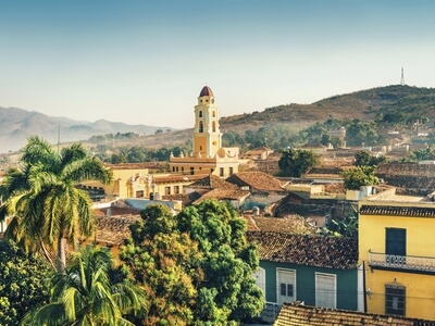 View of colonial trinidad Cuba travel palm tree UNESCO world heritage site wanderlust