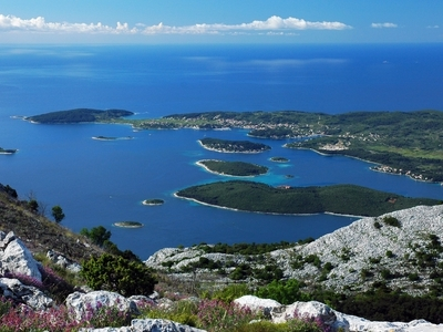 Korluca view adriatic sea mountains island croatia montenegro dock sail travel