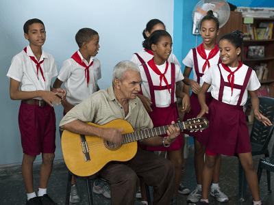Cuban children singing