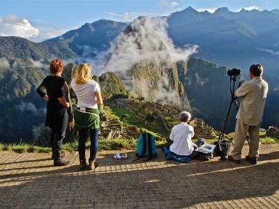 Machu Picchu with guests, Peru.400x300