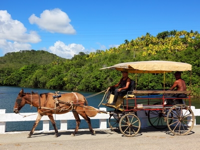 A traditional means of transportation in Baracoa, Cuba