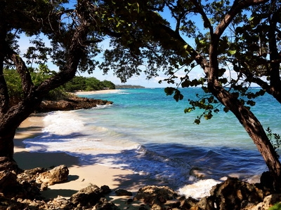 A beach near Baracoa, Cuba
