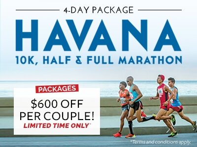 Havana Cuba Marathon half full 10K run active travel