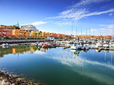 Marina de Portimao, Portugal southern colorful boats ship sailing dock port