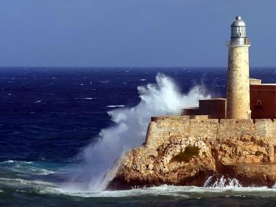 El Morro Lighthouse Havana Cuba Sea