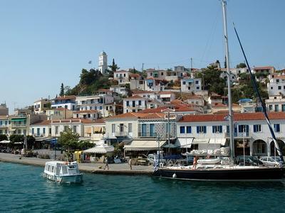 Poros Greece sail boat ship travel beautiful tour vacation cyclades