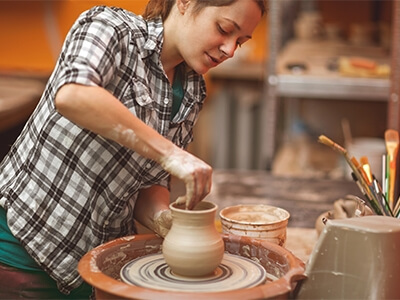 Pottery Maker in Studio