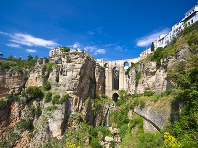 Gorge of Rondo, Spain mountain travel view hiking vacation