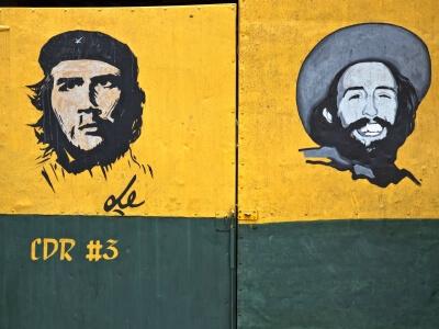 Mural in Santiago de Cuba Ernesto Che Guervara & Fidel Castro