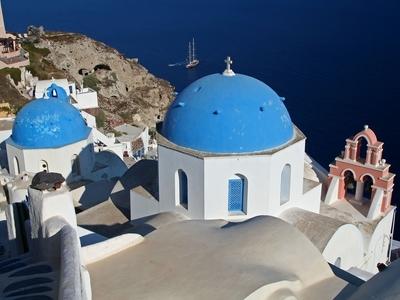 Santorini Greece Oia caldera view agean sea travel tour cyclades