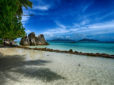 Curieuse St Anne Seychelles beach Africa blue water