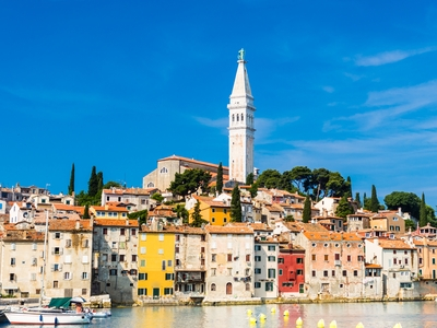 Rovinj town Istria penninsula croatia little venice color buildings travel sail