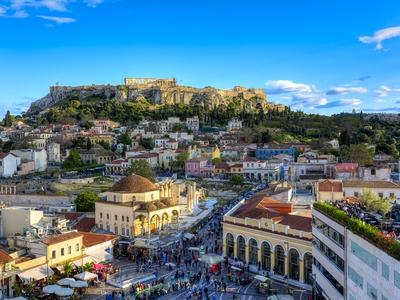Athens Greece city view travel tour ancient