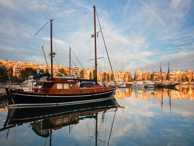 Marina Zea Athens ships boats dock travel sea city Greece cyclades