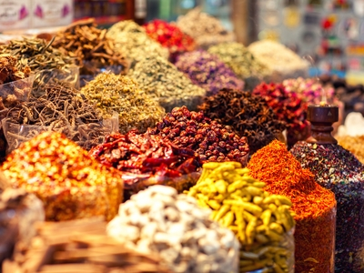 Spices market souk middle east exotic Dubai