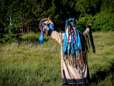 Ancient Shaman Peru ceremony tribute to the earth