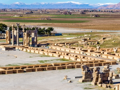 View on Persepolis from the Tomb of Artaxerxes III Iran