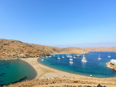 Kythos Kolones Bay Marina Zea Cyclades Greece travel blue water sail vacation