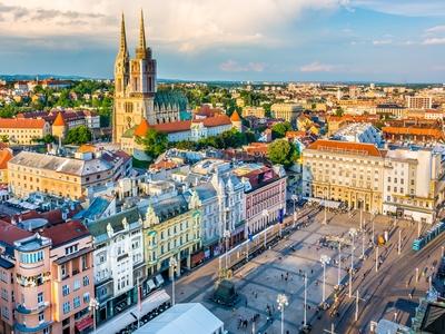 Zagreb Croatia capital city travel Dalmatian Coast cathedral colorful