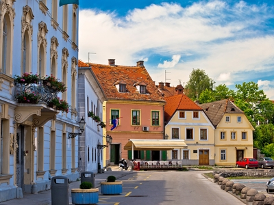 Karlovac Opatija Croatia colorful buildings town architecture vacation travel