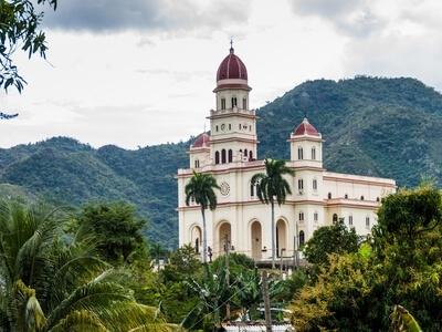 Santiago de Cuba cathedral famous church travel mountains Cuba luxury sail cruise yacht