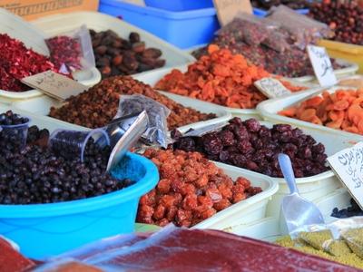 Dried fruit Iran market bazaar