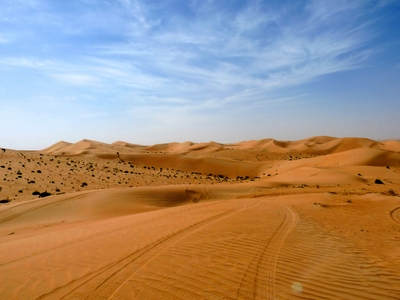 Sand Dunes desert Dubai travel safari middle east UAE