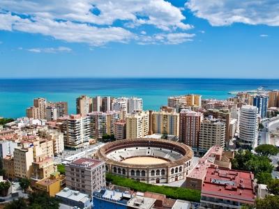 Malaga, Spain travel ocean city vacation beautiful